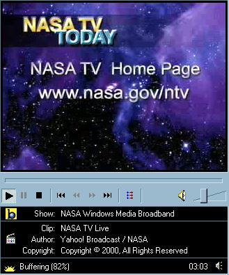 NASA TV screenshot