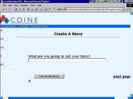 screenshot 22(KB) : Figure 1: Create a story