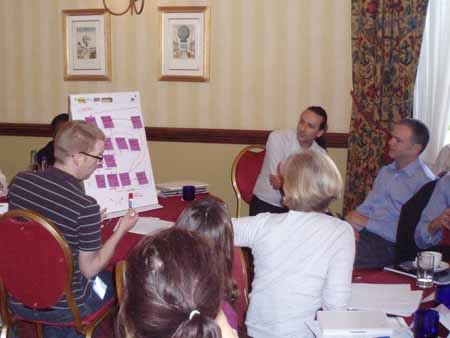 photo (42KB) : Breakout Session. Photo courtesy of Dominic Tate©, SHERPA/RSP, University of Nottingham.