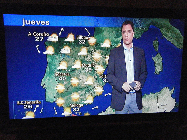 Spanish weather forecasting: A tough job, but someone has to do it.